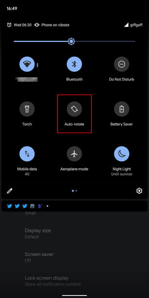 android 10 tips and tricks rotating settings 3