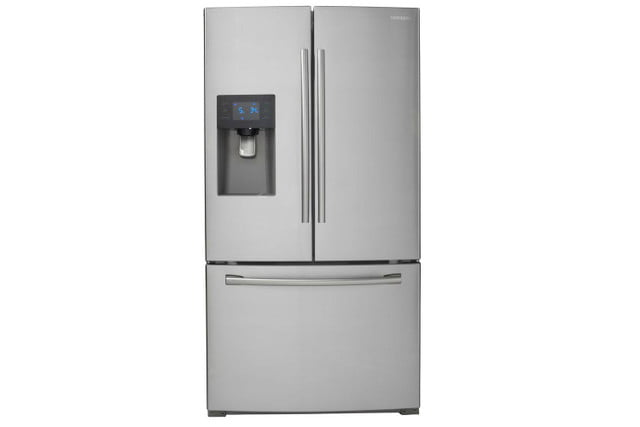 home depot chops samsung and lg french door fridge prices  24 6 cu ft refrigerator in stainless steel model rf263beaesr 01