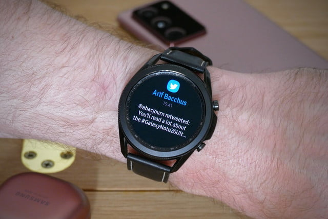 samsung galaxy watch 3 review tweet text