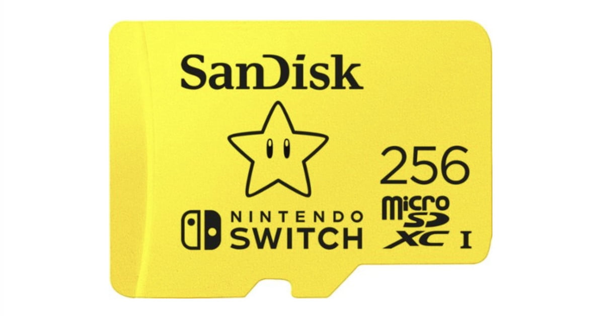 SanDisk 256GB microSD for Nintendo Switch down to $55 — today only