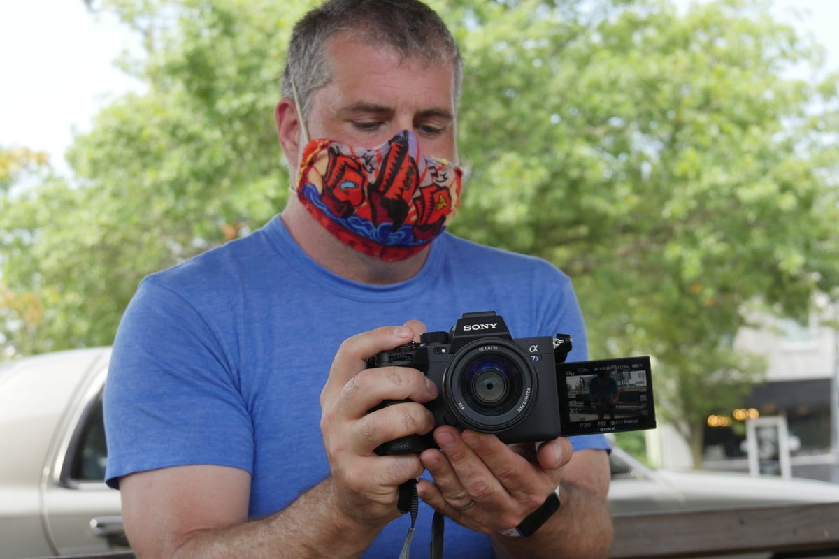 Sony A7S III while wearing face mask