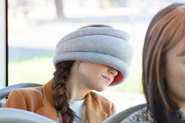 best gear for sleeping on plane trains and buses studio banana things ostrich pillow light travel  21