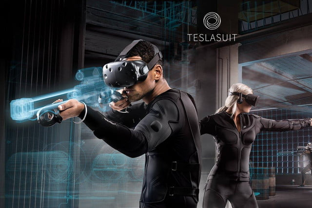 teslasuit full body haptic feedback ces 2018 10