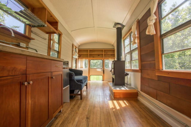 coolest bus to mobile home conversions thomasschoolbusinside2