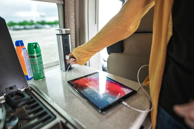 take your tech on the road with thor sequence smart class b rv motorcoach 01