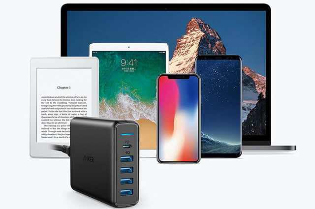 amazon daily deals on anker iphone wireless chargers usb c wall charger premium 60w 5 port desktop with one 30w power deliver