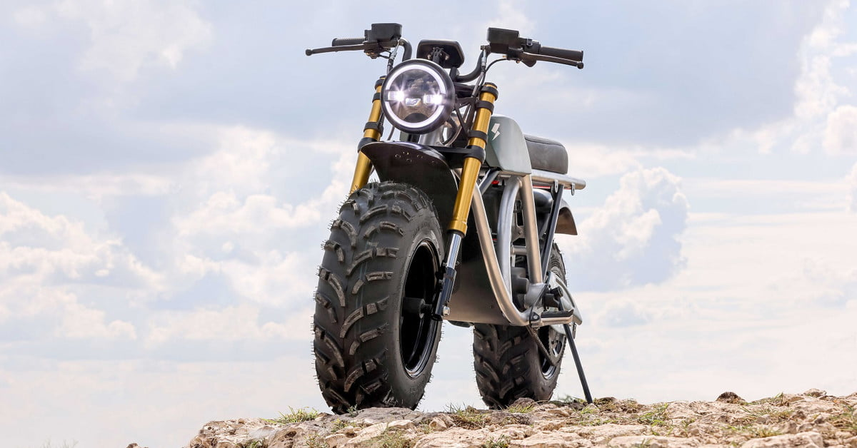 Volcon Grunt is an electric off-road motorcycle you can ride underwater