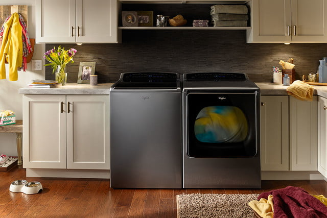whirlpools smart appliances work with nest and amazon dash whirlpool top load laundry pair p150023 3z