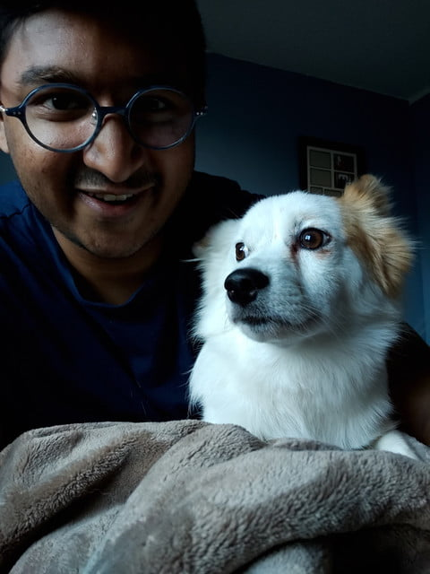 zte axon 10 pro review selfie with dog