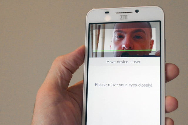 ZTE Grand S3 facial recognition