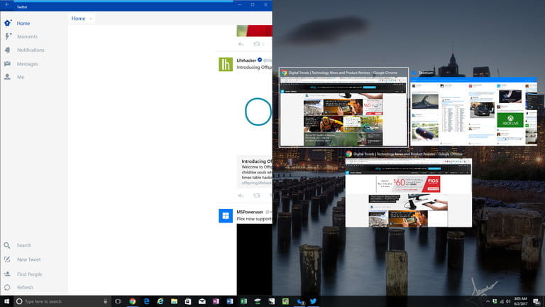 How to split the screen in Windows 10