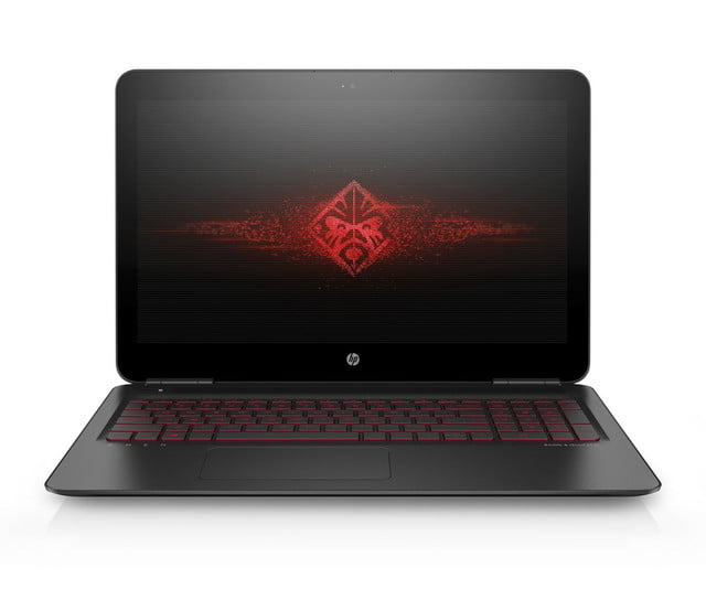 hp lanza linea enfocada gaming 15 6 omen by with new brand logo on screen  front facing 0