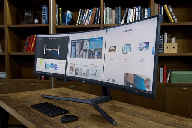 Samsung QLED curved monitor