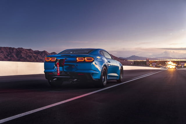 chevrolet camaro electrico ecopo conceptual the concept offers an electrified vision of drag racing with electric motor and g