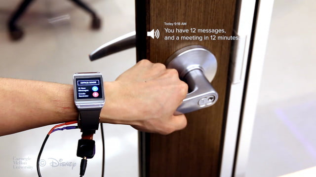 em sense smart watch wearable customizes experience identifies objects disney emsense dooractive
