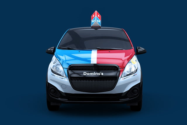 dominos innovative dxp chevrolet spark pizza delivery car 3