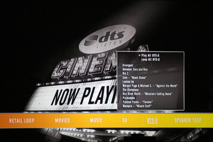 dts dtsx object based surround sound system released x menu screen