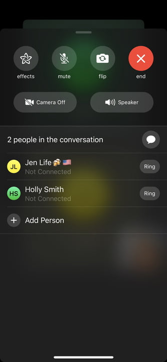 how to make a group facetime call ios 12 effects 2
