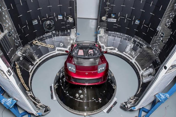 Elon Musk's Tesla Roadster is ready for its long journey to Mars