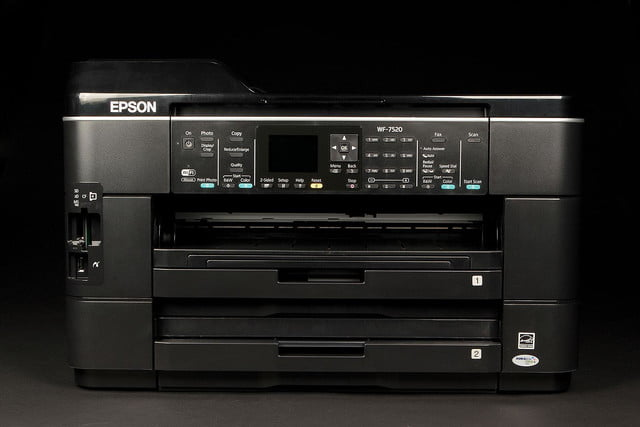 EPSON WF 7520 Printer front tray closed
