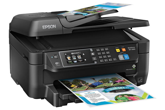 epson lowers price precisioncore inkjet tech new multifunction units workforce wf 2660 right angle