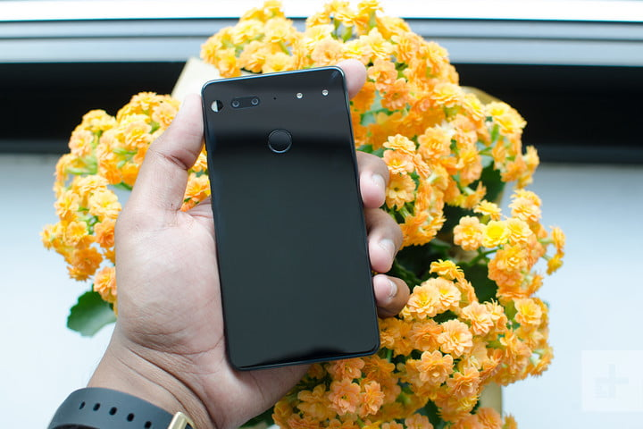 Essential phone review back flowers