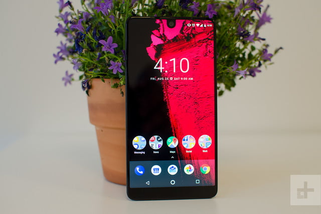 Essential phone review front flower vase