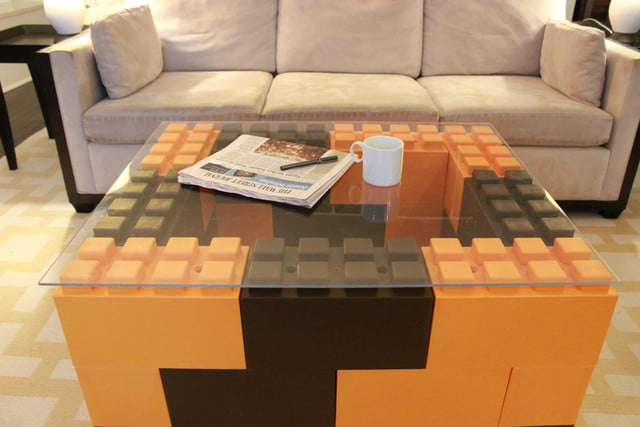 everblock makes life sized legos for furniture building lego coffee table