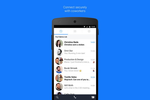 facebook at work chat app secure