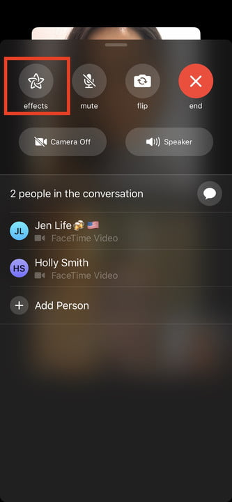 how to make a group facetime call ios 12 effects 3