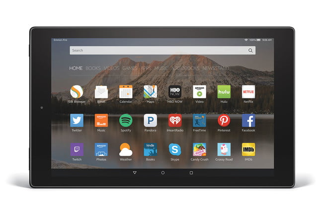 amazon fire hd 10 aluminum horizontal front