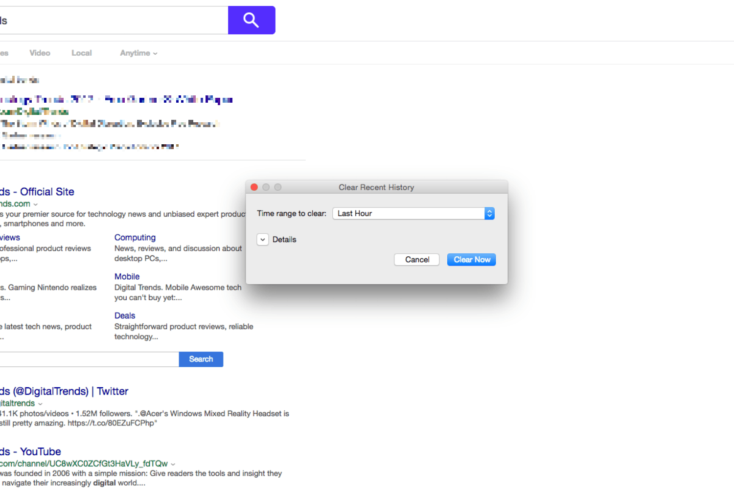 how to clear your chrome history mac