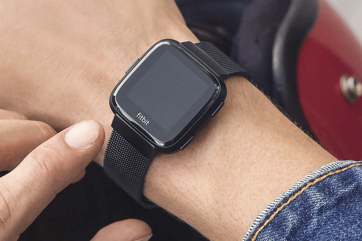 Stainless steel with mesh Fitbit Versa band