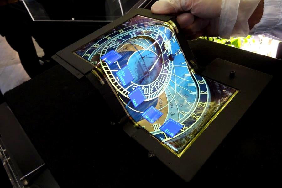 This Flexible Tablet Screen Folds Down To A Third Of Its