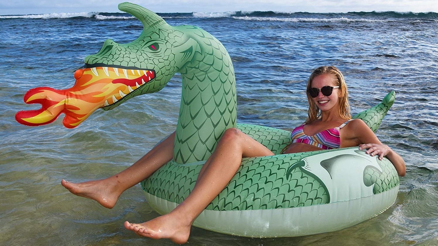 float your way through summer on an angry dragon floating