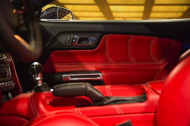 galpin auto sports unveils first production rocket mustang galpinrocket interior 04