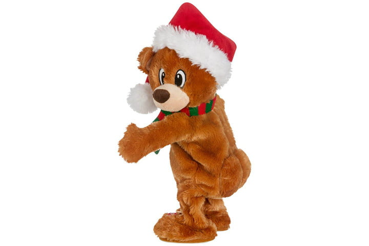 electronic gift deals under 100 gemmy twerking christmas bear bluetooth plush  compatible with alexa