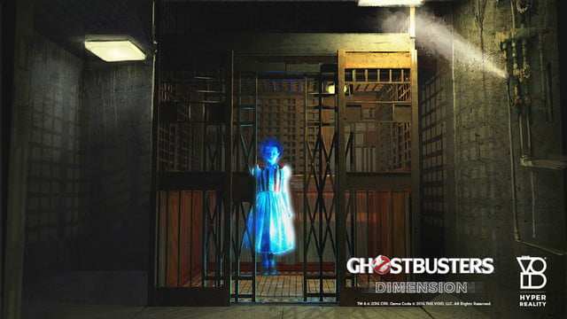 ghostbusters dimension lets you don the proton pack in vr  elevator ghost