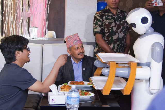 robot waiter ginger launch with minister