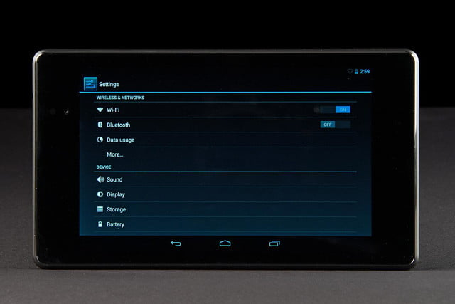 google nexus 7 2013 asus settings