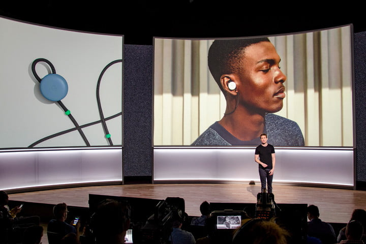 Google Pixel Buds two screens