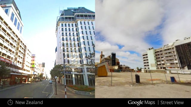 you can time travel using google street view christchurch