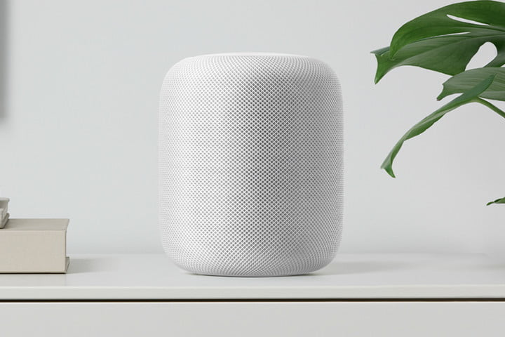 apple homepod speaker white shelf