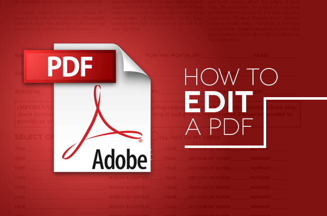 how to edit a pdfs