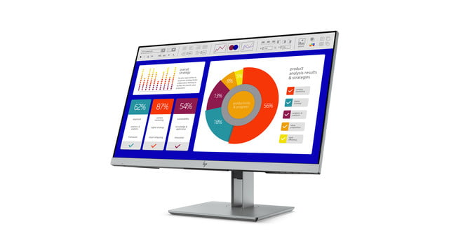 hp launches new monitors and all in one ces 2019 elitedisplay e243p sure view monitor front left