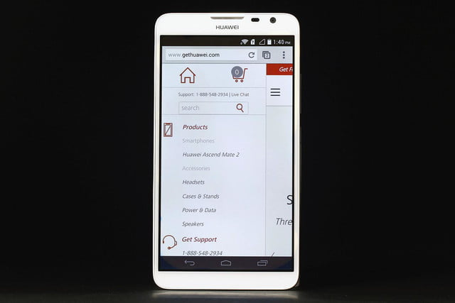 Huawei Ascend Mate 2 browser