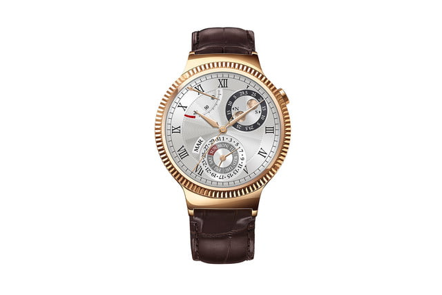 huawei watch news gold leather front