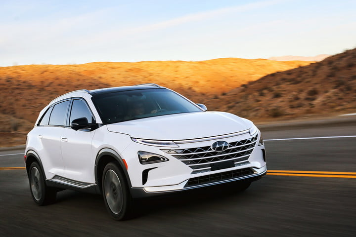 Hyundai's Nexo hydrogen crossover can power appliances, give plants a drink