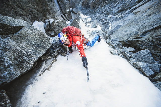 to get perfect mountain shot corey rich climbs mountains ice climbing  mountaineeringdavid lamared bull