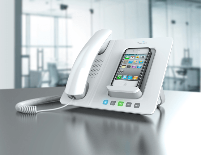 ifusion iphone docking station makes your iphone old school digital trends. Black Bedroom Furniture Sets. Home Design Ideas